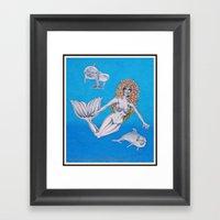 Dolphin Play Time Framed Art Print