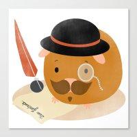 Guinea Pig Portrait 2 Canvas Print
