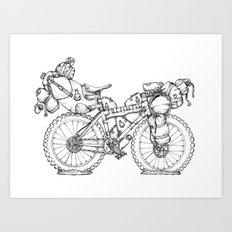 Bikepacking Art Print