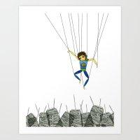 Marionette Boy Art Print