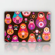 Russian Dolls Illustrati… Laptop & iPad Skin