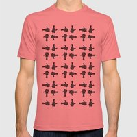 camera 02 pattern Mens Fitted Tee Pomegranate SMALL