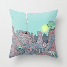There be Dragons Throw Pillow