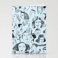 hair styles Stationery Cards