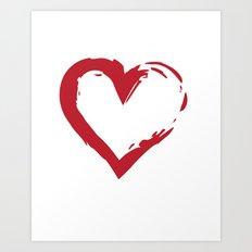 Heart Shape Symbol Art Print