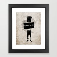 Need Food For Life Framed Art Print