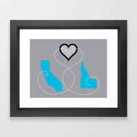 California - Idaho Love  Framed Art Print