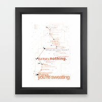 Bateman Constellation Framed Art Print