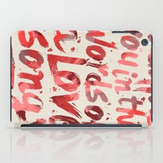 words of a love song iPad Case