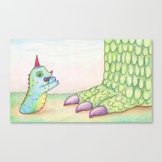 Wormrah the 'giant' monster. Canvas Print