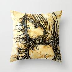 Tea Breeze Throw Pillow