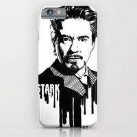 iPhone & iPod Case featuring Avengers in Ink: Iron Man by Rebecca Loomis