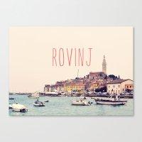 Rovinj, Croatia Travel A… Canvas Print