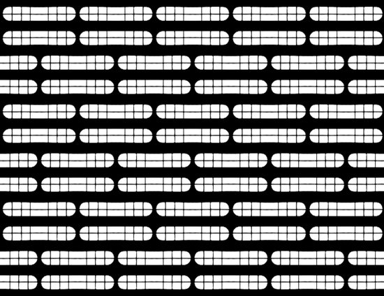 Grift Black & White Pattern Canvas Print