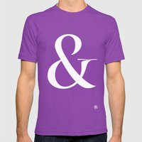 Turquoise's Ampersand Mens Fitted Tee Ultraviolet SMALL