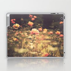 One Rose in a Magic Garden (Vintage Flower Photography) Laptop & iPad Skin