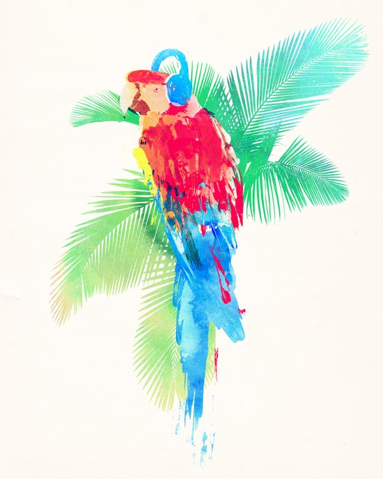 Tropical Party Art Print