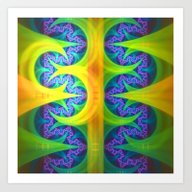 Bright Abstract Patterns… Art Print