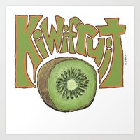 Kiwifruit. Art Print