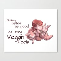 Being Vegan Canvas Print