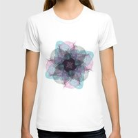 Devil's Flower Womens Fitted Tee White SMALL