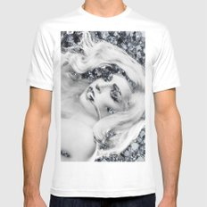 S-L-A-Y White Mens Fitted Tee SMALL