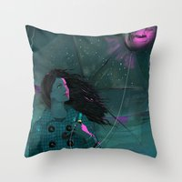 BLUE BLUE SEA Throw Pillow