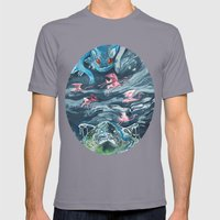 Water Gods Mens Fitted Tee Slate SMALL