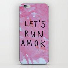 let's run amok iPhone & iPod Skin