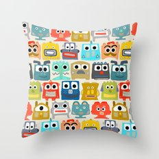 summer baby robots Throw Pillow