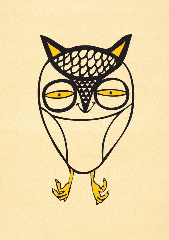 satisfied  owl Art Print