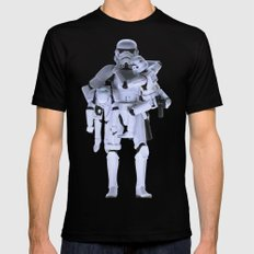 Trooper with Kids SMALL Mens Fitted Tee Black