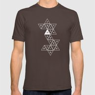 Unrolled D20 Mens Fitted Tee Brown SMALL