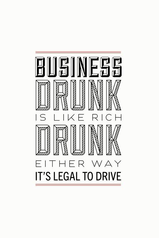 Rich Drunk Art Print