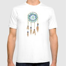 Dream Catcher SMALL White Mens Fitted Tee