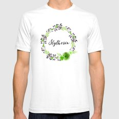 HP Slytherin in Watercolor White SMALL Mens Fitted Tee