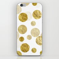 iPhone & iPod Skin featuring Confetti Gold by LebensART
