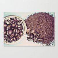 Coffee Beans And Coffee … Canvas Print