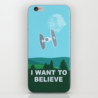 I WANT TO BELIEVE - Star… iPhone & iPod Skin