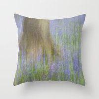 The Bluebell Wood, Norwi… Throw Pillow