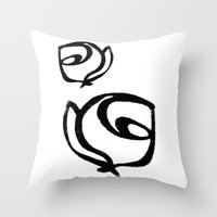 Flowers, Mother-Daughter1 Throw Pillow