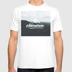 Make your own adventure Mens Fitted Tee White SMALL