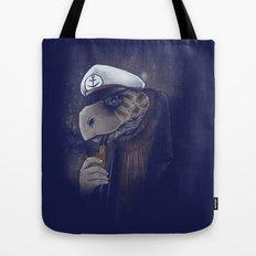 Turtlenecked Sea Captain Tote Bag