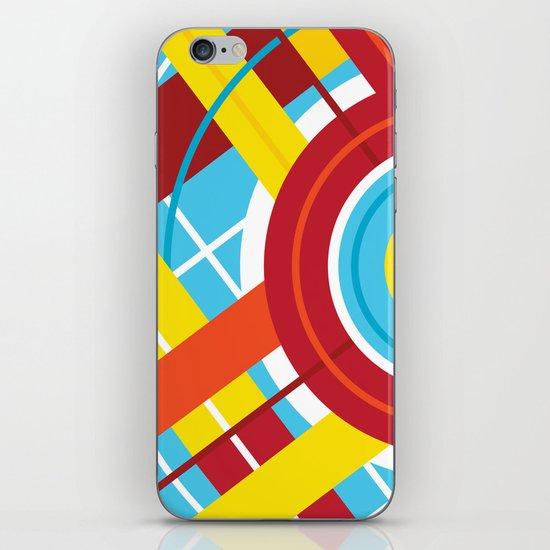 Plaid Circle iPhone & iPod Skin