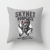 The Friendly Future Throw Pillow
