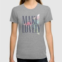 Make Lovely // Leaf Womens Fitted Tee Tri-Grey SMALL