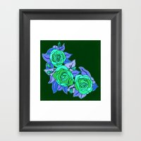 With The Roses Framed Art Print