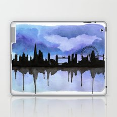 London Skyline 2 Blue Laptop & iPad Skin