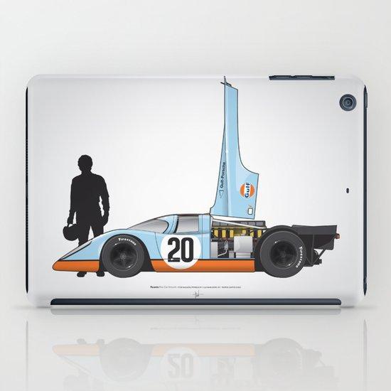 Outline Series N.º4, Steve McQueen, Porsche 917, Le Mans movie 1971 iPad Case