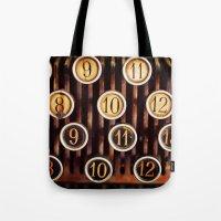 Vintage Numbers Tote Bag